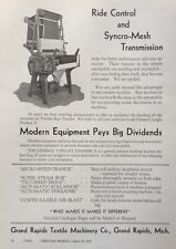 1932 AD(K7)~GRAND RAPIDS TEXTILE MACHINERY CO. MICH. TEXTILE FINISHING MACHINE