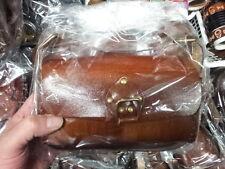 borsa cuoio  vero cuoio  artigianale grande qualita' bauletto piccolo 19X10 L8CM