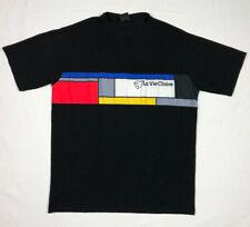 Vtg La Vie Claire Mondrian Cycling T-Shirt 3XL Black Stretch A9