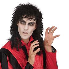Adults Michael Jackson Wig Halloween Thriller Mens Fancy Dress Costume Accessory