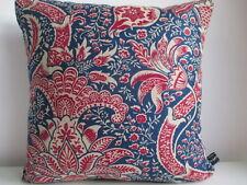 LIBERTY William Morris India Rosso Biancheria & Navy Tessuto in Velluto Arti Copricuscino