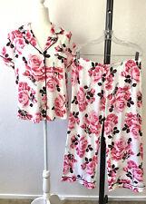 Kate Spade New York Floral Pajama Set Women's Size L Cotton Modal