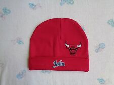 Chicago Bulls Personalized Baby Hat (0-2 year)
