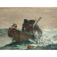 Winslow Homer The Herring Net Large Canvas Art Print