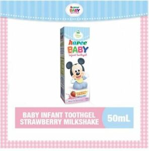 Hapee Baby Infant Tooth-gel Strawberry Milkshake Flavor 50mL