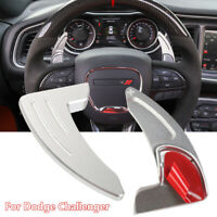 Aluminum Car Steering Wheel Shift Paddle Shifter Trim for Dodge Challenger 15-19