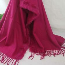 Vintage Women Man Solid Long Cashmere Wool Blend Soft Warm Wrap Shawl Scarf 234