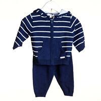 SPANISH STYLE BABY BOYS BRUSHED COTTON DUNGEREES SHORTS BLUE WHITE 6-12-18-24-36