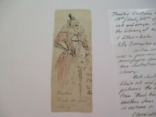 DRAWING COSTUME DESIGN ANTIQUE ATTRIBUTED TO EDITH CRAIG WOMAN'S SUFFRAGE ERA