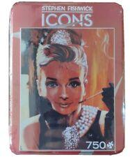 "Stephen Fishwick Icons Tin 750pc Puzzle Sealed Breakfast at Tiffany's 18"" x 24"""