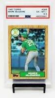 1987 Topps HR King Cardinals MARK MCGWIRE Rookie Baseball Card PSA 6.5 EX-MT