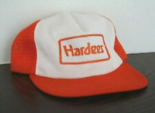 358b418184141 Vintage Trucker Hat Hardees Mesh snapback cap Orange Fast Food Uniform  Burger