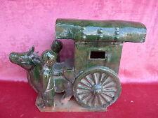 bella,vecchio,grande figura__carro di buoi__Cina__Terracotta smaltato__45cm_