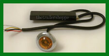 """Maxxima M09370Y Amber Lens 1 LED Strobe Warning Auxiliary 1"""" Round Micro"""