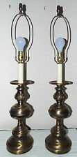 LAMPS PAIR VINTAGE BRASS ORNATE ELECTRIC OIL BURNER CANDLESTICK THEMED LAMPS!!