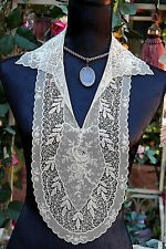 STUNNING  EDWARDIAN  ANTIQUES LACE COLLAR WITH 3D ROSES