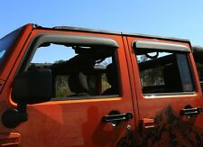 Jeep Wrangler Window Rain Visors Guards Matte Black  2007-2017 4 Door 11349.12