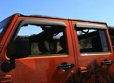 Jeep Wrangler Window Rain Visors Guards Matte Black  2007-2017 4 Door 11349.12