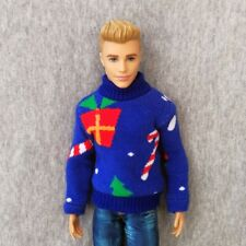 """Handmade doll clothes Christmas sweater for 12"""" ken dolls"""