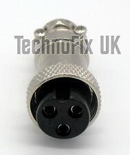 Connettore 3 pin Microfono bloccaggio spina Mike (GX16-3) per radio ICOM più vecchi ecc.