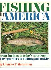 Fishing in America by Charles F. Waterman Vintage 1975 Hardcover