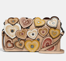 Coach Hayden Foldover Crossbody Clutch With Hearts ~ NWT MSRP $275
