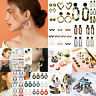 Women Trendy Geometric Dangle Drop Hook Acrylic Resin Ear Stud Earrings Jewelry