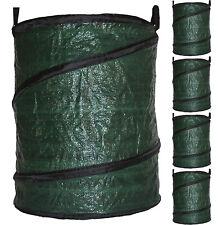 Garden Waste Bag Large Reusable Leaf Collection Leaves Collapsible Pop-Up 90L x5