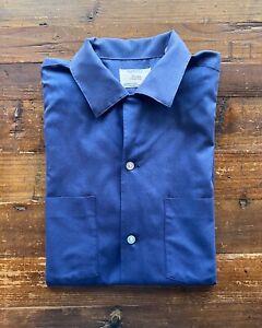 Vintage 50's Arrow Decton Loop Collar Shirt Navy M