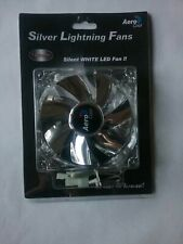AeroCool Silver Lightning 120mm White LED Case Cooling Fan