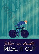 Sport Pedal It Out Cycling Bike Large Wall Art Poster Print LF3893