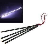 4X Waterproof 30cm SMD 3528 Cool White 15 LED Flexible Strip Light Lamp Auto Car