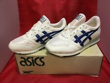 FREE SHIPPING!90s!Rare!ASICS AT-4100 24.5cm white/Blue Jogging shoes Japan⑦
