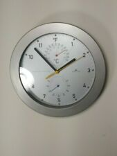 Helio Designer Wall Weather Clock Brushed Aluminum 10""