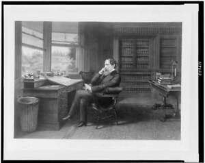 Charles Dickens in his study,Gadshill,Gad's Hill Place,c1875,Samuel Hollyer