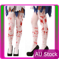 Tight High Stockings Halloween Horror White Bloody Fake Blood Zombie Nurse