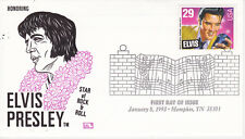 POSTAL HISTORY FIRST DAY EVENT COVER HONORING ELVIS PRESLEY HFB CACHET MUSIC SIN