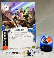 Ciena Ree x2 Rare #1 Star Wars Destiny Empire At War Card+Die