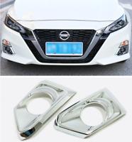 ABS Chrome Front Fog Light Lamp Cover Trim 2pcs For Nissan Altima 2019-2020