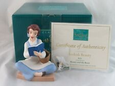 """WDCC """"Bookish Beauty"""" Belle from Disney's Beauty and the Beast in Box COA, Pin"""