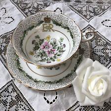 Vintage Paragon Tea Cup Saucer Queen Elizabeth II Coronation 1953 Commemorative