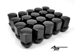 24 Pc GMC Sierra 1500 BLACK WHEEL LUG NUTS 14mm x 1.50 Part AP-1709LBK