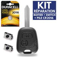 ⭐ ➜KIT Réparation Boitier Clef Télécommande pour Plip Peugeot Expert Partner ⭐