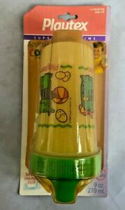 Vtg NIP Playtex 9oz Spill Proof Cup Sippy Spout1995 SEALED Ball Animals Green