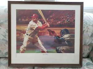 Stan Musial Autographed Lithograph Limited Edition #797/1000