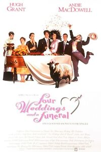 Four weddings and a funeral movie poster  A4 Size