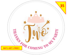 70  Birthday Two Party Labels Stickers  sweet Cone Bags Gifts Non Personalised