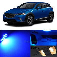 9Pcs Blue Interior LED Lamp Bulbs Light Package Kit For 2016 Mazda CX-3 CX3 MP