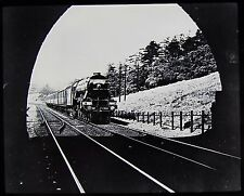 Glass Magic Lantern Slide SCARBOROUGH FLYER STEAM TRAIN C1910 PHOTO RAILWAY