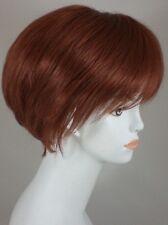 Fox Red Auburn Short Straight Bob Style Wig w/Bangs